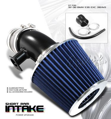 BMW E36 3 Series 1992-1998 Polished Short Ram Intake System