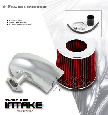 BMW E36 3 Series 1994-2001 Polished Short Ram Intake System
