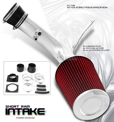 Ford F150 V8 1997-2003 Polished Short Ram Intake System