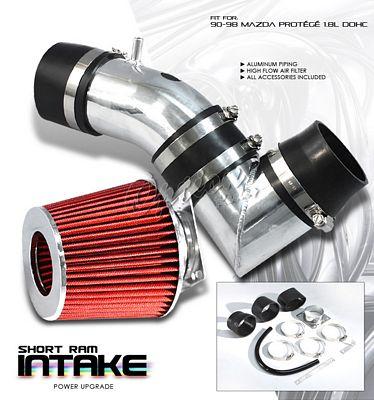 Mazda Protege 1990-1998 Polished Short Ram Intake System