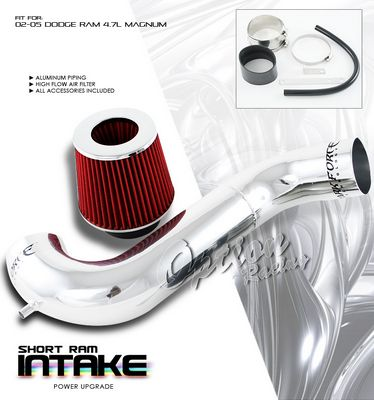 Dodge Ram 2002-2005 Polished Short Intake System