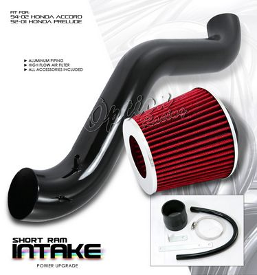 Honda Prelude 1992-1996 Black Short Ram Intake System