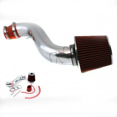 1993 Honda Accord Polished Short Ram Intake with Red Air Filter