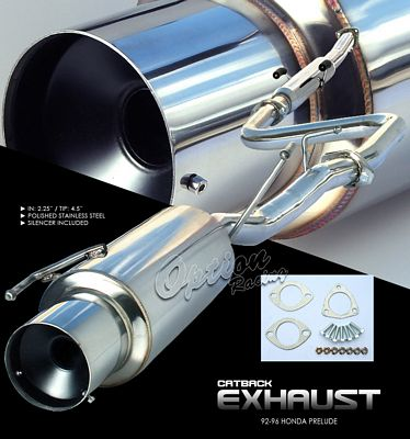 Honda Prelude 1992-1996 Cat Back Exhaust System