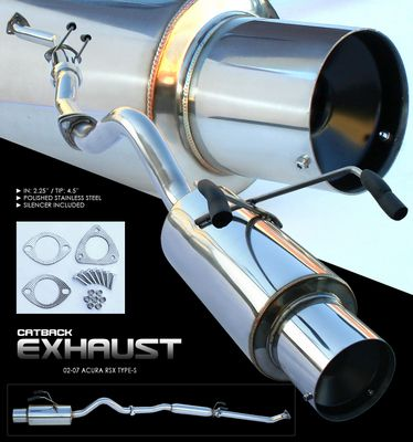 Acura RSX Type S Cat Back Exhaust System AIDG - Acura rsx type s exhaust