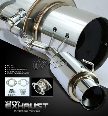 Mitsubishi Eclipse GSX 1989-1994 Cat Back Exhaust System