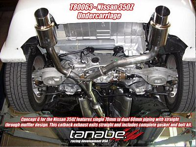 Nissan 350Z 2003-2006 Tanabe Medalion Concept G Cat Back Exhaust System
