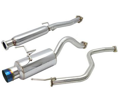 Honda Civic Hatchback 1992-1995 Cat Back Exhaust System with Titanium Tip