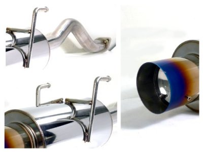Acura Integra GSR Cat Back Exhaust System With Titanium - 1994 acura integra exhaust system