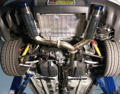 Mitsubishi Lancer Evolution X 2008-2012 Cat Back Exhaust System with Titanium Tip