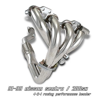 Nissan 200SX 1991-1999 4-2-1 Stainless Steel Racing Headers