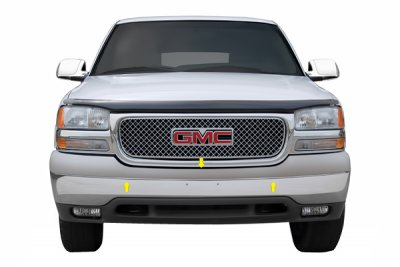 GMC Sierra 1999-2002 Chrome Upper Bumper Filler