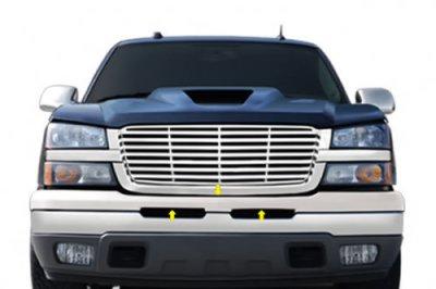 Chevy Silverado 2500HD 2003-2005 Chrome Upper Bumper Filler Panel