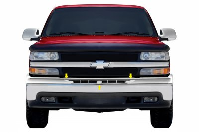 Chevy Suburban 2000-2006 Chrome Upper Bumper Filler