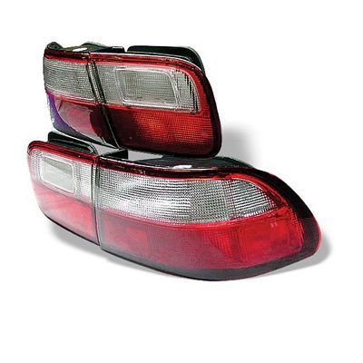 Honda Civic 1992-1995 Red and Clear JDM Tail Lights