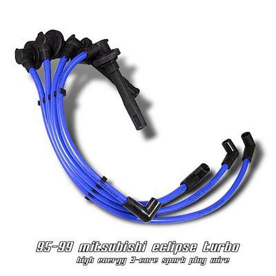Mitsubishi Eclipse 1995-1999 Blue Spark Plug Wires