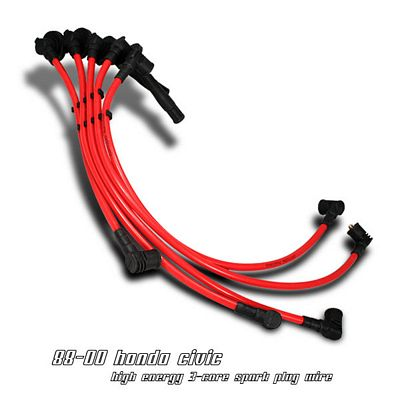 Honda Civic 1988-2000 Red Spark Plug Wires