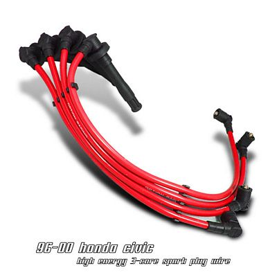 Honda Civic 1996-2000 Red Spark Plug Wires