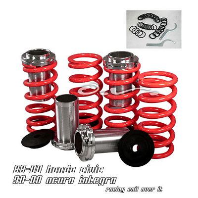 Acura Integra 1990-2001 Red Coilovers Lowering Springs Kit