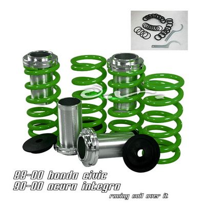 Acura Integra 1990-2001 Green Coilovers Lowering Springs Kit
