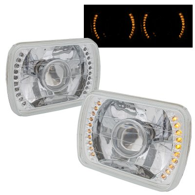 Ford F150 1978-1986 Amber LED Sealed Beam Projector Headlight Conversion