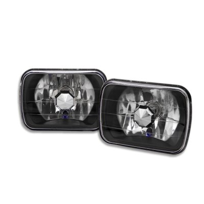 Ford Bronco 1979-1986 Black 7 Inch Sealed Beam Headlight Conversion