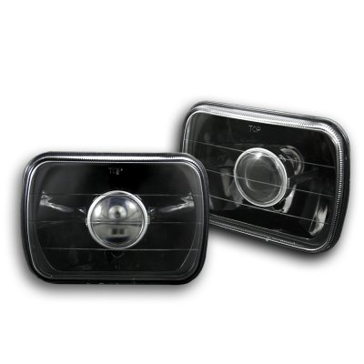 Jeep Grand Wagoneer 1987-1991 Black 7 Inch Sealed Beam Projector Headlight Conversion