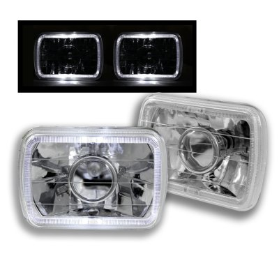 Jeep Grand Wagoneer 1987-1991 White Halo Sealed Beam Projector Headlight Conversion
