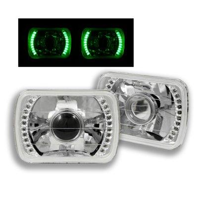 1986 Hyundai Excel Green LED Sealed Beam Projector Headlight Conversion
