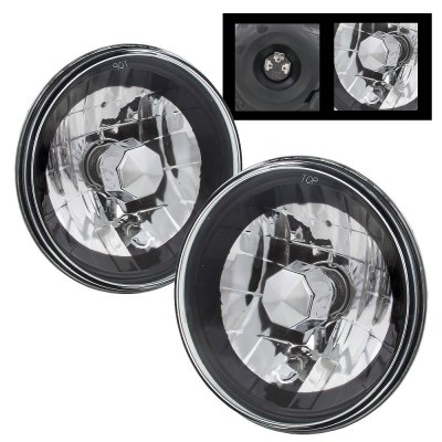 Ford F100 1969-1979 Black Chrome Sealed Beam Headlight Conversion