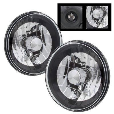 Jeep Wrangler 1997-2006 Black Chrome Sealed Beam Headlight Conversion