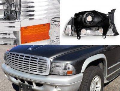 Dodge Durango 1998-2003 Chrome Headlights