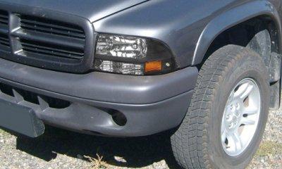 Dodge Durango 1998 2003 Black Headlights