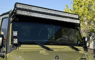 Jeep Wrangler JK 2007-2015 Dual LED Light Bars with Mounting Brackets