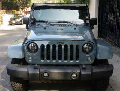 Jeep Wrangler 2007-2016 LED Light Bar and Dual Spot Beam LED Windshield Lights with Mounts