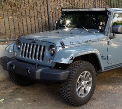 Jeep Wrangler 2007-2016 LED Light Bar and Dual Spot Beam LED Windshield Lights with Mounts