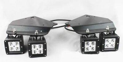 Ford F150 SVT Raptor 2010-2014 Dual LED Spot Beam LED Fog Lights and Mount