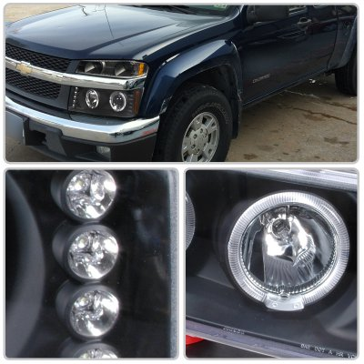 Gmc Canyon 2004 2017 Black Halo Projector Headlights And Per Lights