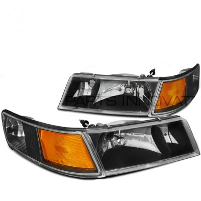 Mercury Grand Marquis 1998 2002 Black Euro Headlights A128i85n102 Topgearautosport