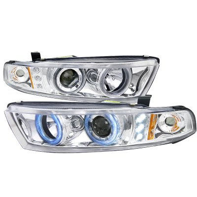 Mitsubishi Galant 1999-2003 Clear Halo Projector Headlights with Integrated LED