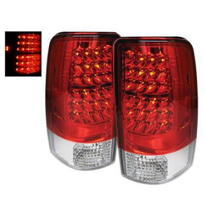 GMC Yukon 2000-2006 LED Tail Lights Red and Clear
