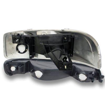 GMC Sierra 1999-2006 Smoked Clear Headlights and Bumper Lights