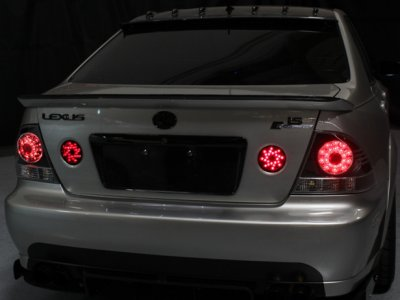 ... Lexus IS300 2001 2005 Smoked LED Tail Lights And Trunk Lights ...