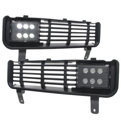 Dodge Ram 2500 1994 2002 Black Led Fog Lights And Per Grille Kit A140ybk3232 Topgearautosport