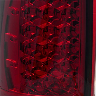 Chevy Silverado 1999-2002 LED Tail Lights Red Smoked