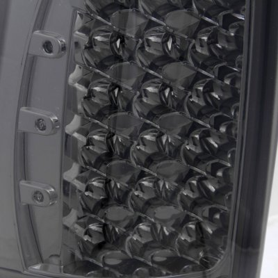 Chevy Silverado 1999-2002 LED Tail Lights Smoked Chrome