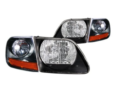2002 Ford F150 Harley Davidson Style Black Headlights and Corner Lights
