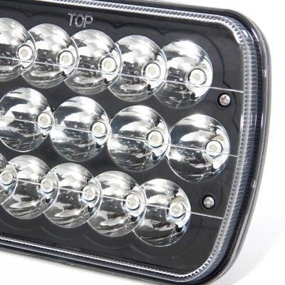 GMC Safari 1986-2004 Black Full LED Seal Beam Headlight Conversion
