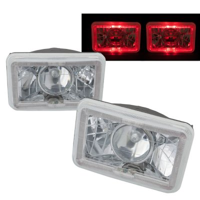 Pontiac Parisienne 1984-1986 Red Halo Sealed Beam Projector Headlight Conversion