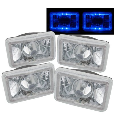 Chevy Camaro 1982-1992 Blue Halo Sealed Beam Projector Headlight Conversion Low and High Beams